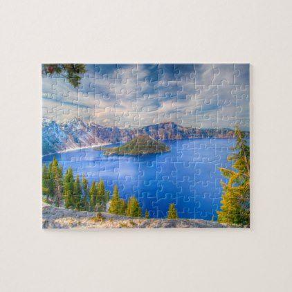 Crater Lake Oregon Jigsaw Puzzle | Zazzle.com #craterlakeoregon