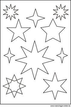 sternen vorlage sterne basteln mit kindern stern. Black Bedroom Furniture Sets. Home Design Ideas