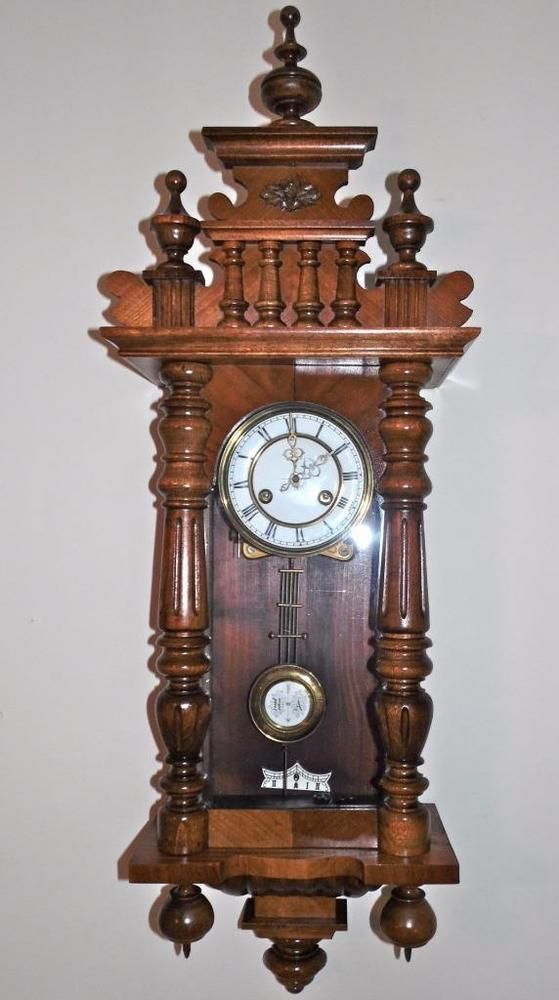 Vienna Regulator Clock Germany 8 Day Key Wound 37 Quot Tall