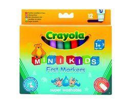 Flamastry zmywalne, 12 szt.| Crayola, Mini Kids