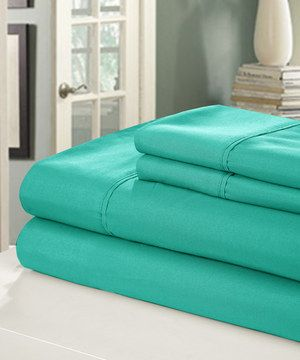 Another great find on #zulily! Turquoise Peach Skin Sheet Set by Chic Home Design #zulilyfinds