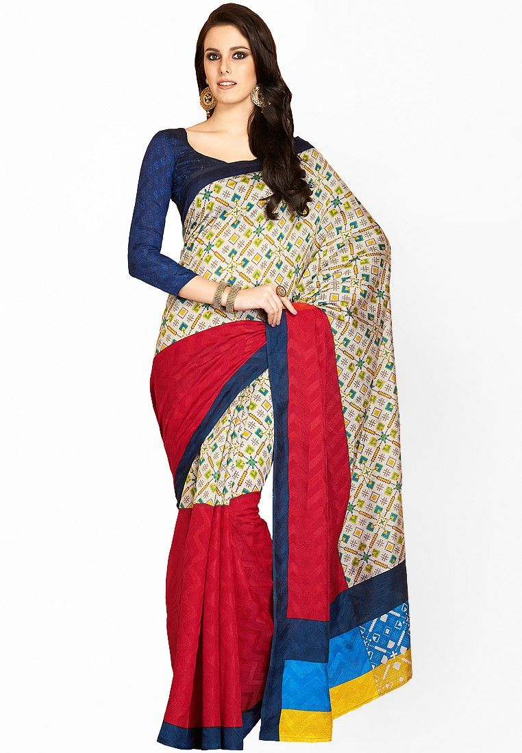 Beige Printed Sarees at $39.90 (24% OFF)  https://www.dollyfashions.com/triveni-sarees-beige-printed-sarees-3000716440.html