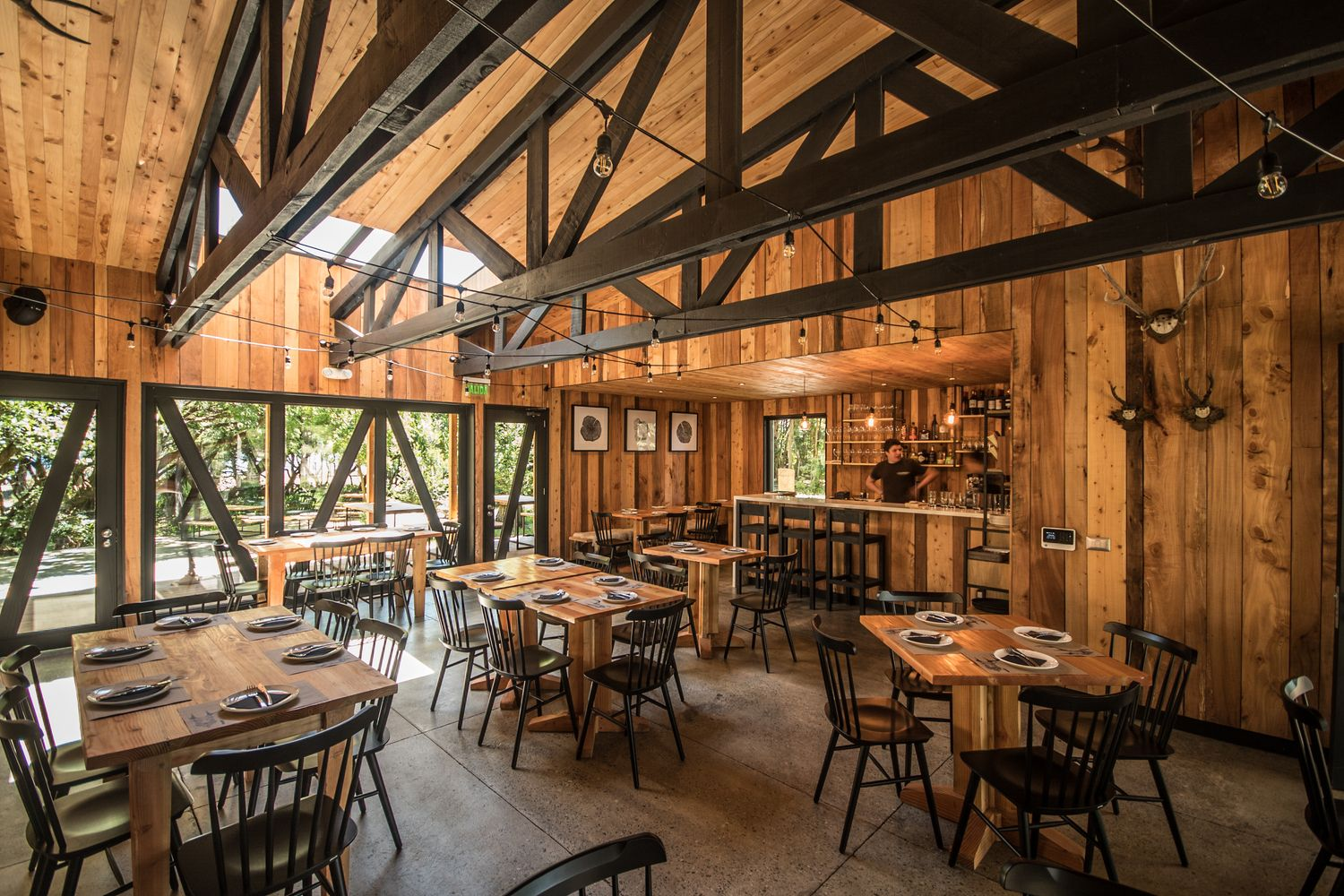 Gallery Of The Beauty Of Exposed Wooden Trusses 6 Restaurant Alinea Architecture