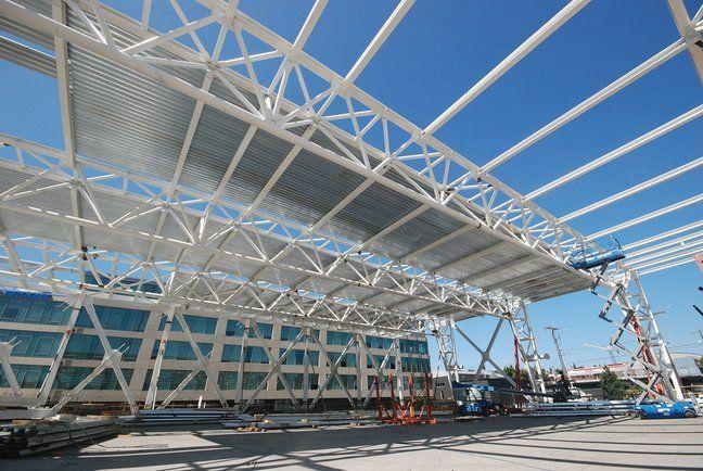 Steel Transfer Truss In 2020 Steel Trusses Metal Structure