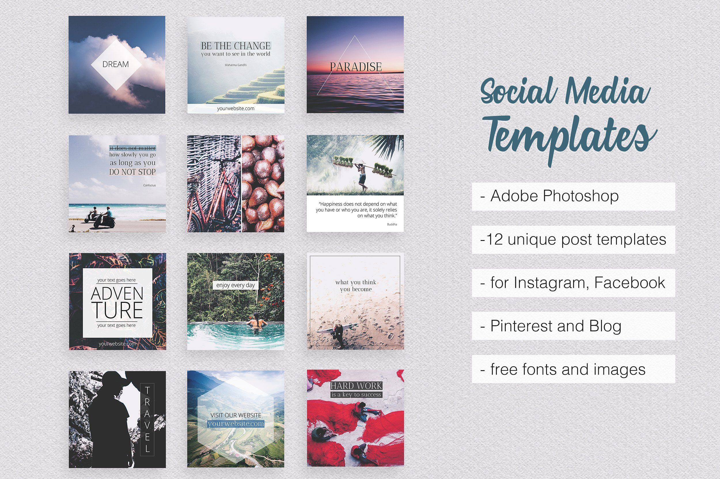 50 Off Social Media Pack Part 1 Social Media Pack Social Media Template Pinterest Templates