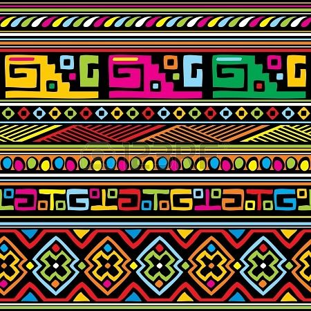 seamless vector background with african ornament | Картинки для ...