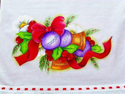 Sinos Lacos E Bolas E Natal Pintura De Natal Pinturas De