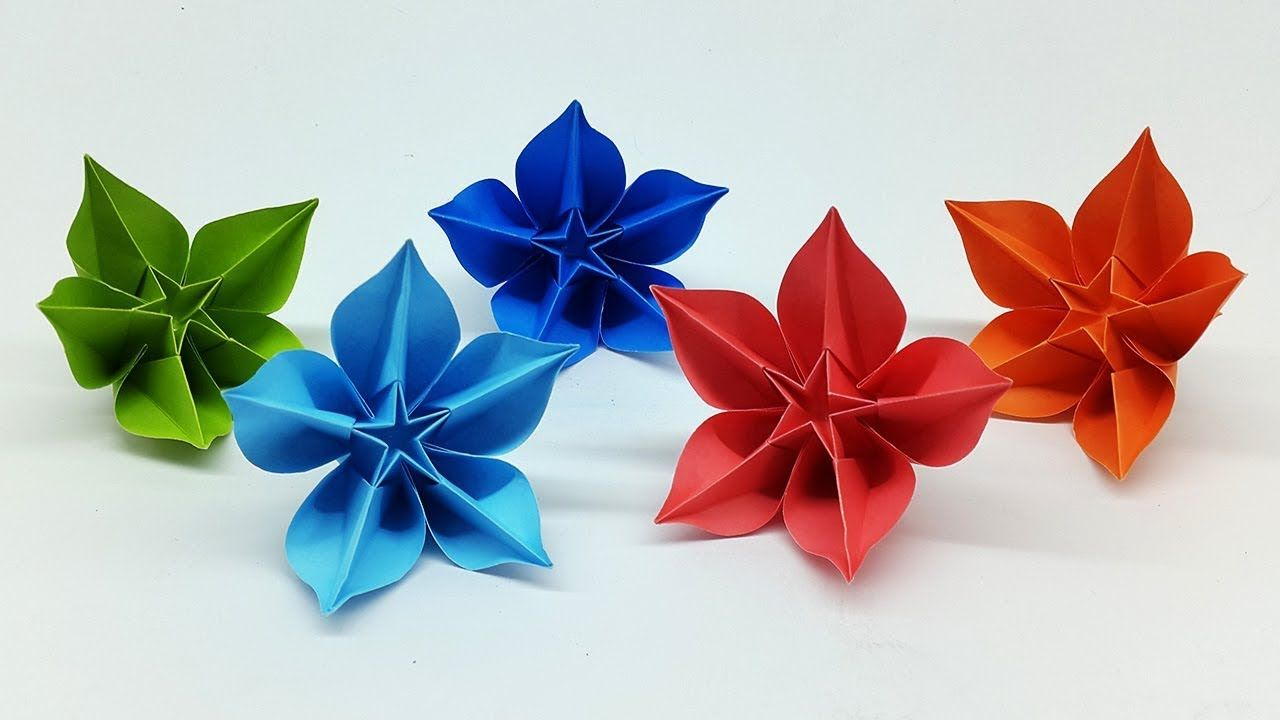 Easy Diy Paper Flowers Making Tutorial Origami Carambola Flower