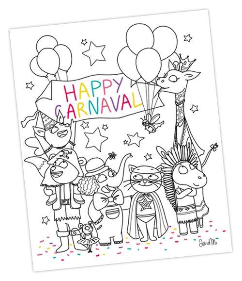Coloriage Carnaval Momes.Happy Carnaval Joyeux Mardi Gras Le Blog De Momes Net