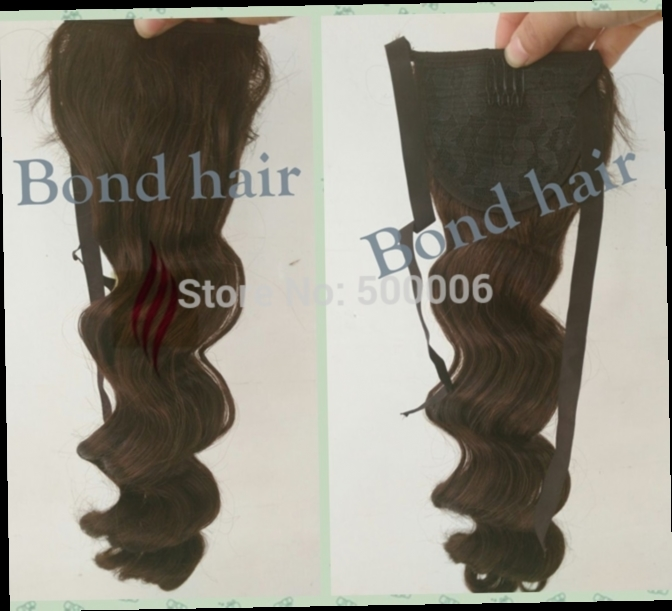 50.00$  Buy now - http://alii3j.worldwells.pw/go.php?t=32319056208 - 7A Grade Ponytail 100% Human Hair Ponytails, Remy Brazilian Virgin Hair Clip On Hair Extensions 8-30 inch Drawstring Ponytail 50.00$