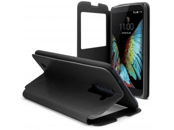 Coque Etui LG K10 Flip Folio - Window View - Noir - 8,90 €