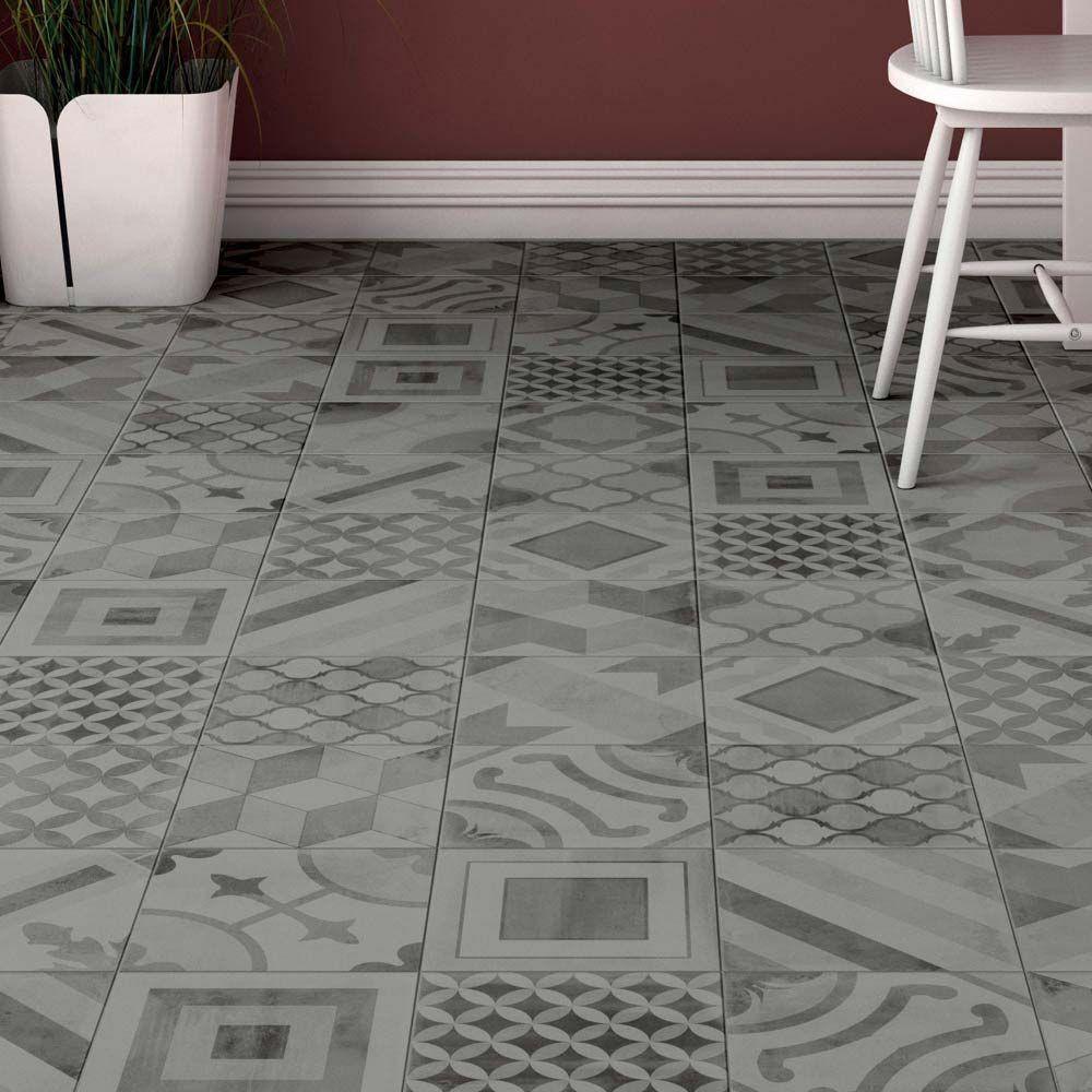 Almada Grey Rustic Wall and Floor Tile - 450 x 450mm