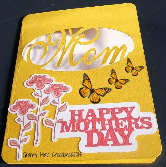 Mother's Day--SVG DT Mom Card & Charms