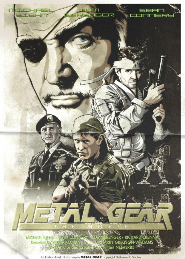 Metal Gear Solid Fan Art Movie Poster Metal Gear Solid Metal Gear Movie Poster Art