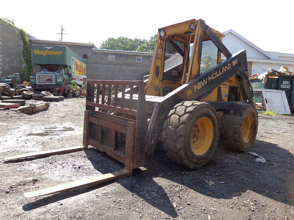 New Holland L785 Skid Steer Loader Nice Ford Dsl Weights Forks Skidsteer Skid Steer Loader New Holland Steer