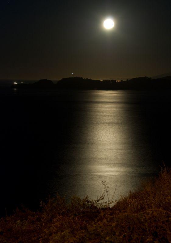 Full Moon Over Point Bonita by Wandering_Dan