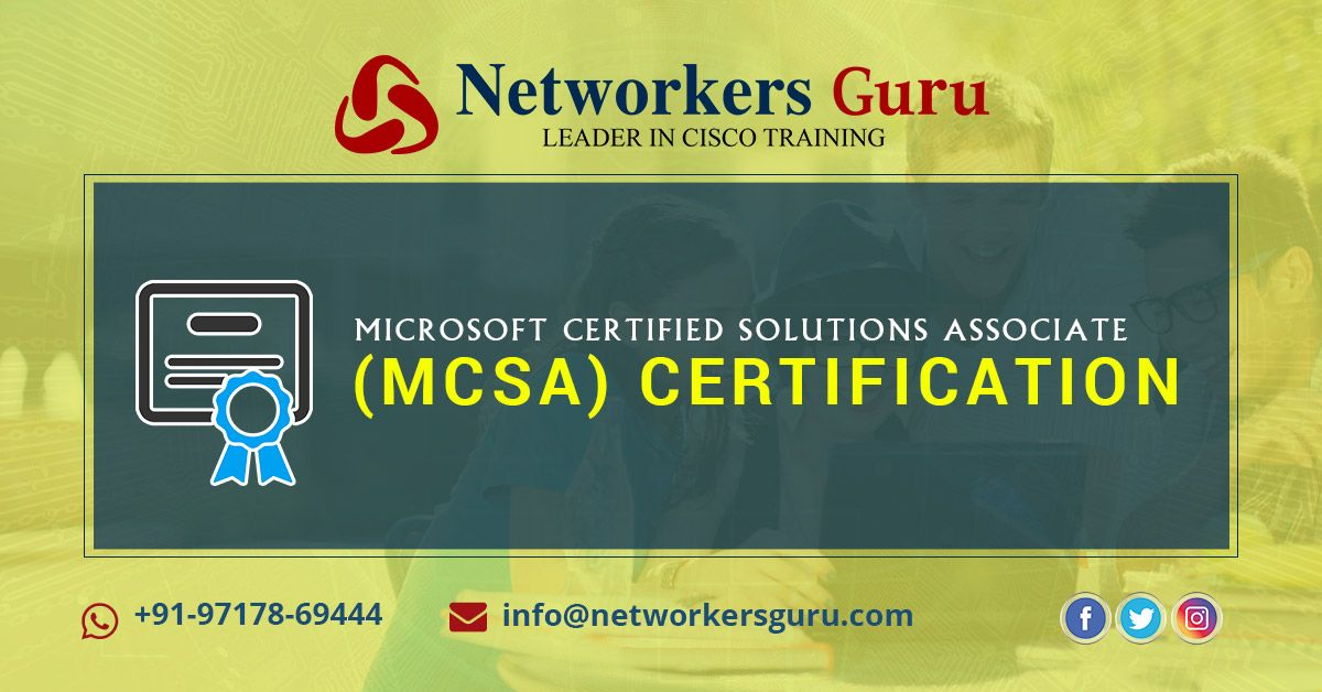 The Mcsa Certification Covers Three Areas Of Knowledge Installing