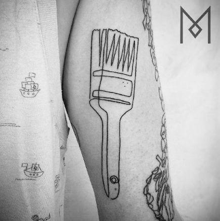 Mo Ganji - Single Continuous Line Tattoos - Ran Moneta Collection