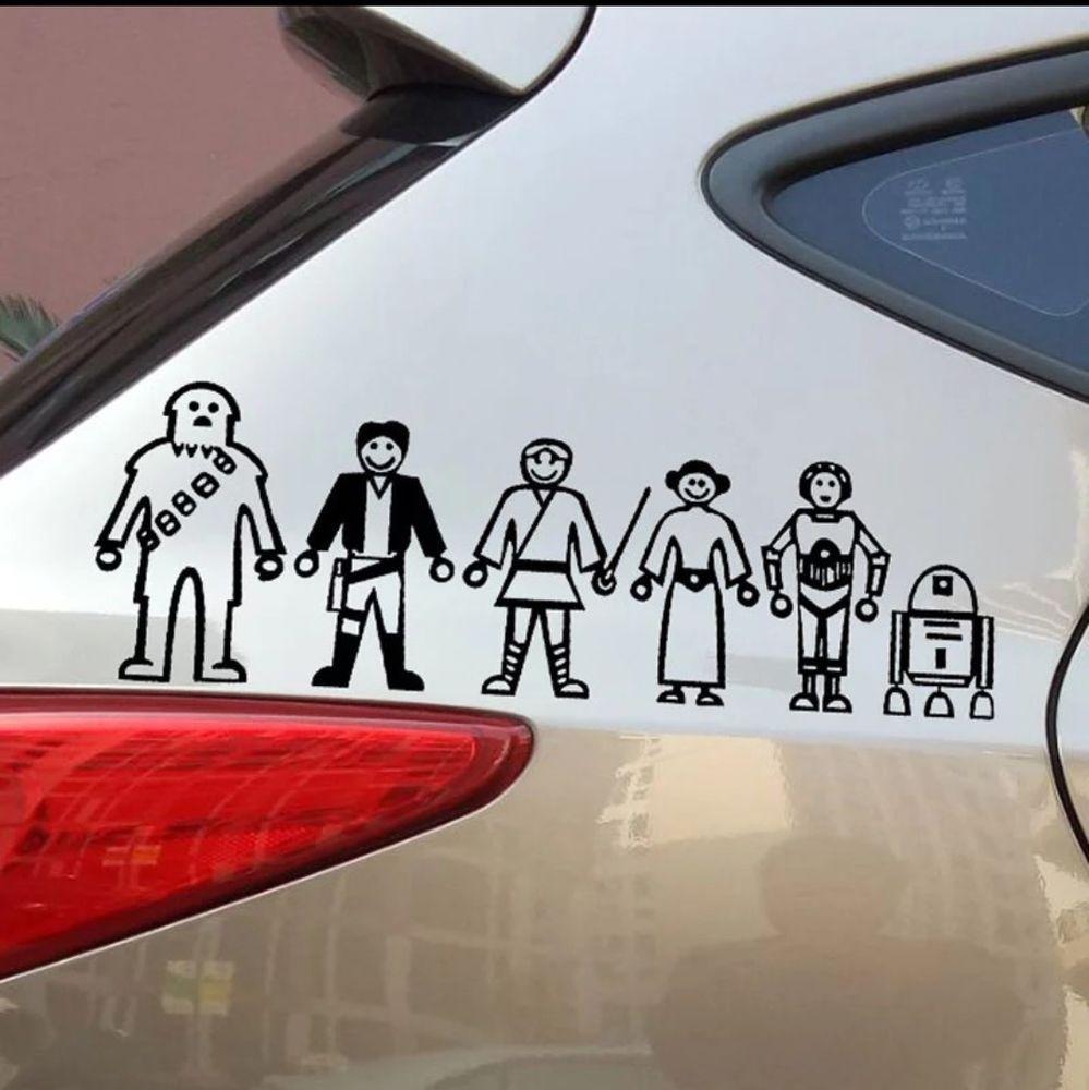 Funny Star Wars Family Car Decal Sticker Motorcycle Laptop Ebay In 2021 Family Car Decals Star Wars Humor New Sports Cars [ jpg ]