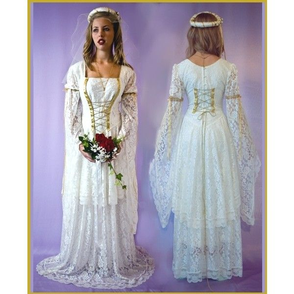 Medieval Wedding Dresses ❤ liked on Polyvore featuring dresses, wedding dresses and medieval