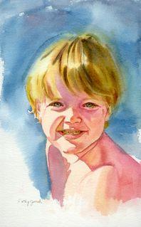 Boy Watercolor Portrait