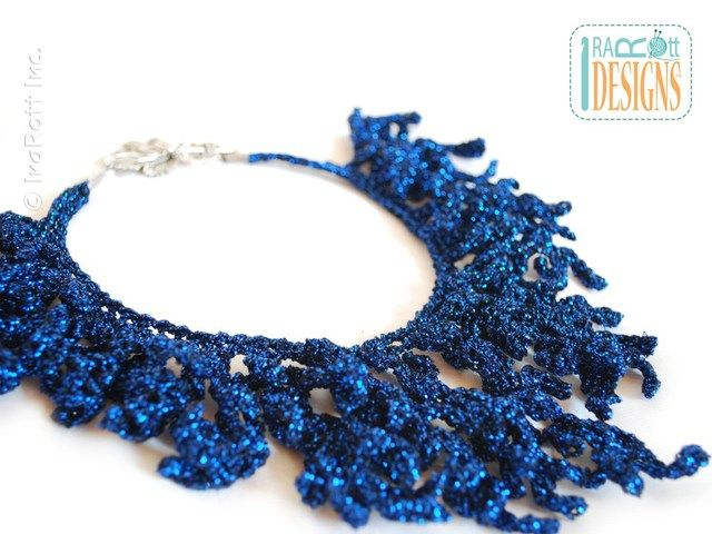 Coral Reef Necklace Free Crochet Pattern | Crochet Jewelry-Polymer ...