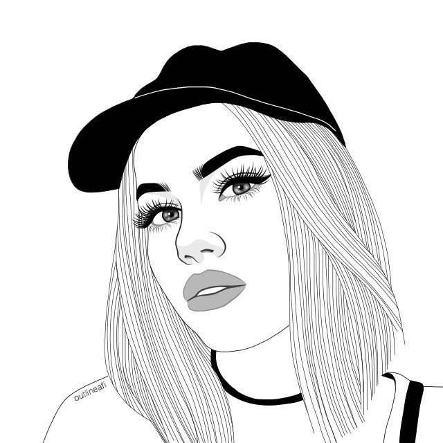 Outlines | Things to draw | Tumblr outline, Tumblr girl ...