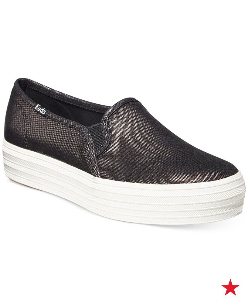 Keds Women's Triple Decker Slip-On Sneakers - Sneakers - Shoes - Macy's