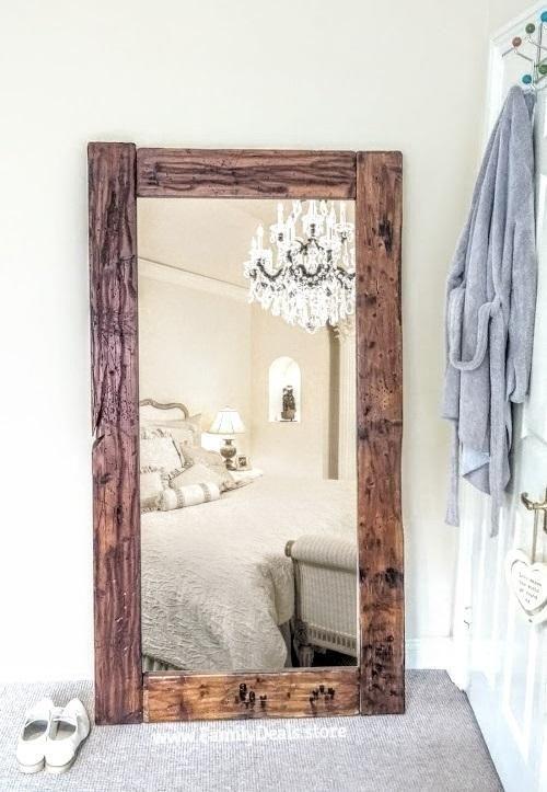Gorgeous Full Length Reclaimed Wood Floor Mirror Mirrors