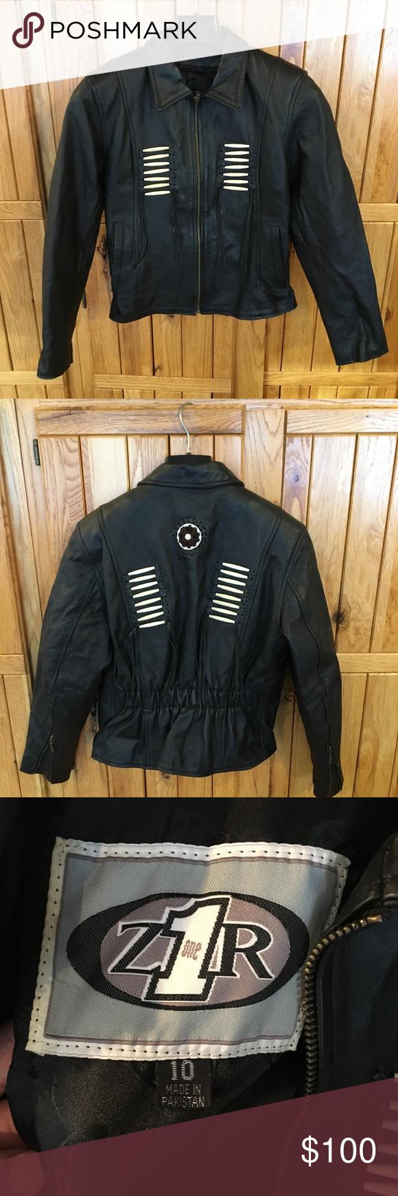 7ed089657238 I just added this listing on Poshmark  Z1R Women s Bone Beads   Leather  Motorcycle Jacket.  shopmycloset  poshmark  fashion  shopping  style   forsale  Z1R ...