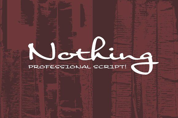 Nothing by Dharma Type on @creativemarket