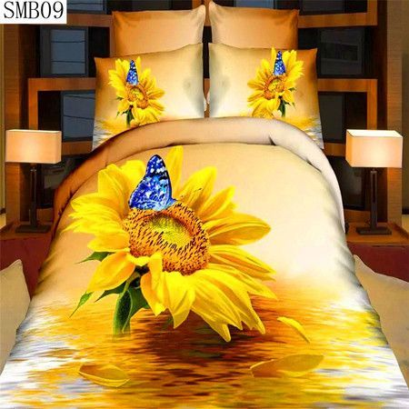 Fast shipping 100% cotton 3d series bedding set queen size rose pattern design include pillowcase duvet cover bed sheet