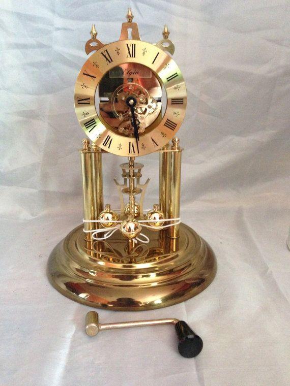 vintage west german elgin sloan anniversary clock one jewel 400 day new in box - Anniversary Clock