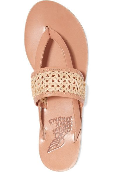 a67013650a3 Ancient Greek Sandals - Zenobia woven raffia and leather sandals ...