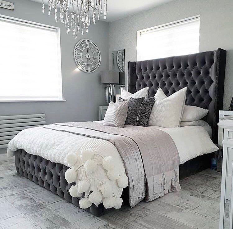 The Luxury Bed Company On Instagram Roselyn Bed Charcoal Plain Velvet Buttons Interior Styling 18 B Luxurious Bedrooms Bedroom Interior Bedroom Decor