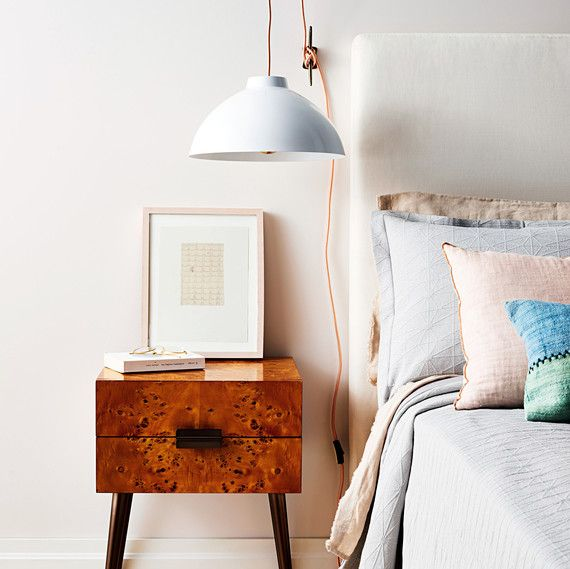 What A Bright Idea Hanging Bedside Pendant Lamp Bedside