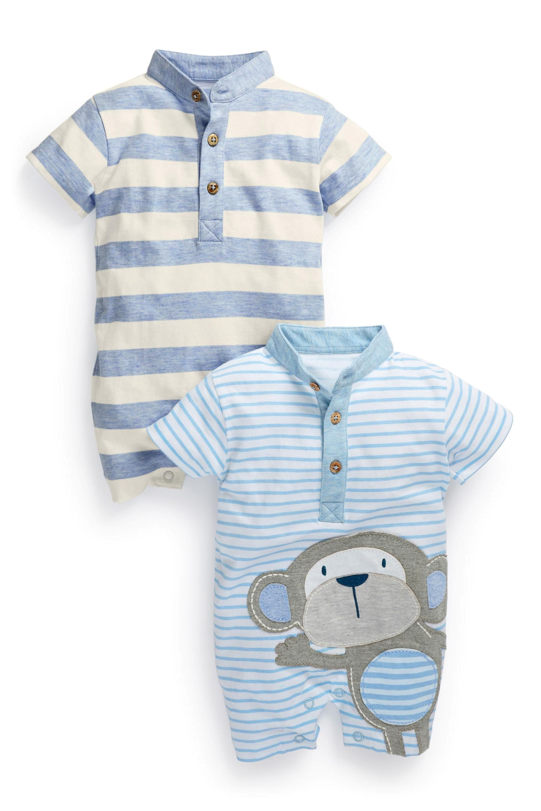 Buy Monkey Romper Two Pack 0 18mths from the Next UK online shop