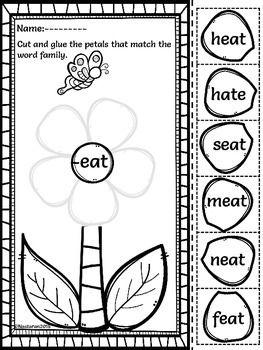Word Work Activities-Word Families Worksheets Worksheets