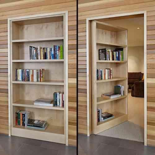 Bibliotheque Encastree En Bois Hidden Door Bookcase Bookcase Door Bookshelf Door