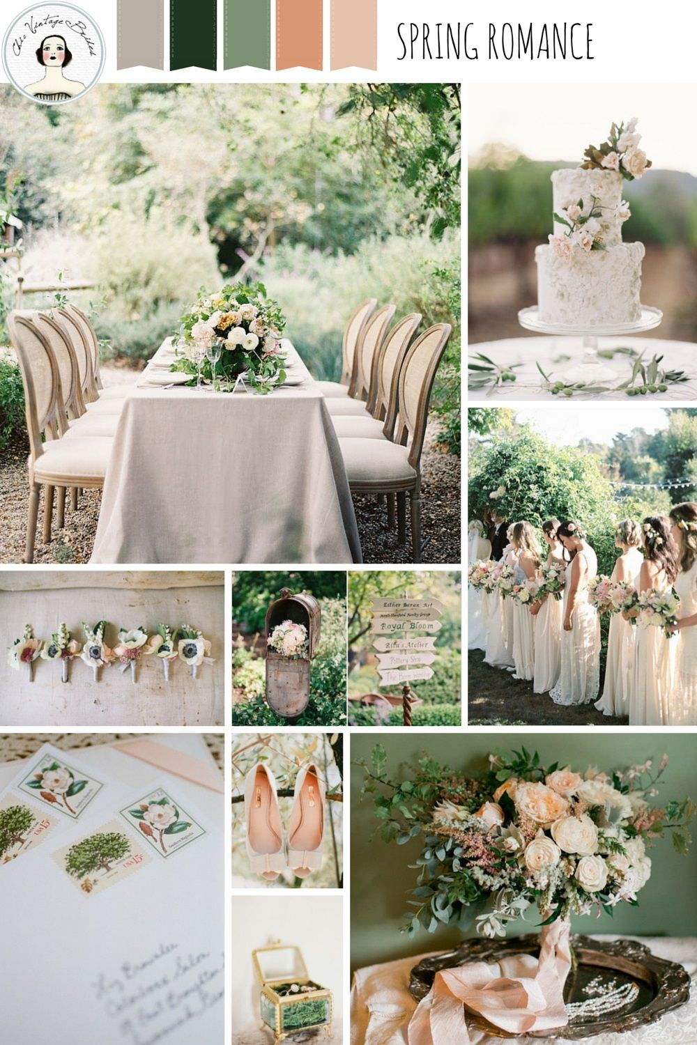 A Romantic Spring Wedding Inspiration Board Wedding Themes Spring Summer Wedding Colors Wedding Color Palette Summer