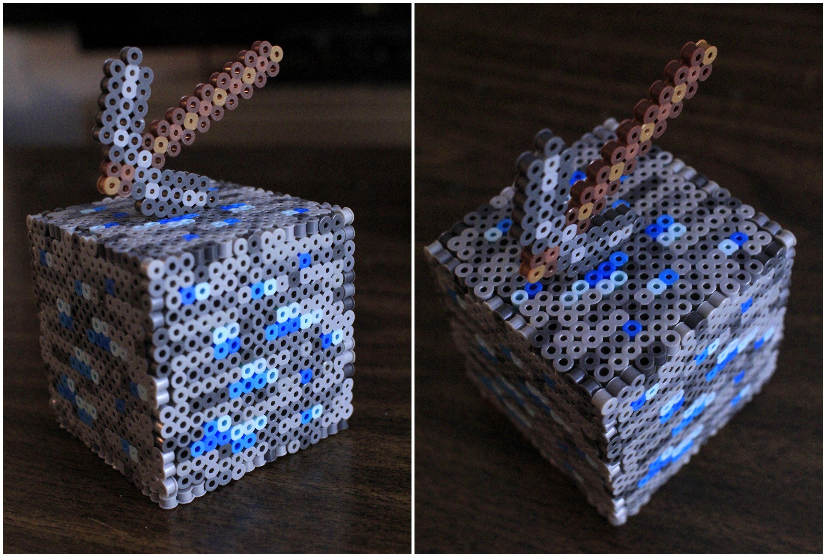 minecraft fuse box wiring libraryperler and artkal fuse bead diamond ore minecraft block by pkmnmastertash pkmnmastertash [ 2754 x 1858 Pixel ]