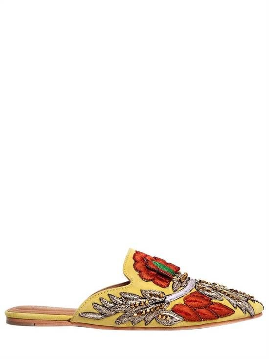 Jeffrey Campbell 10MM EMBROIDERED SUEDE MULES LCV0hbu