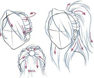 Half Ponytail Back Front Perspectives Drawing How To Draw Hair Drawing Tutorial Drawing People