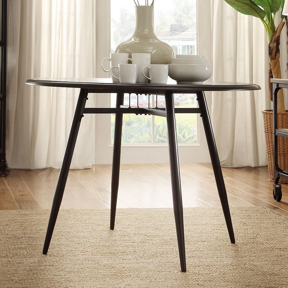 HomeVance Grayson Black Dining Table