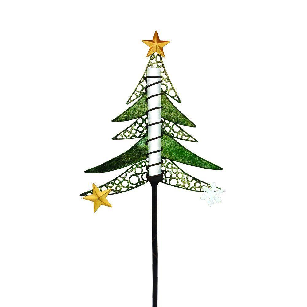 solar powered led tree christmas stake - Solar Powered Christmas Yard Decorations