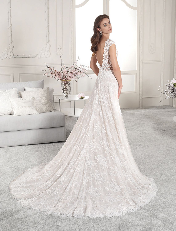 Wedding dress short in front with long train  Demetrios  Wedding Dress Style   F  Gowns  Pinterest
