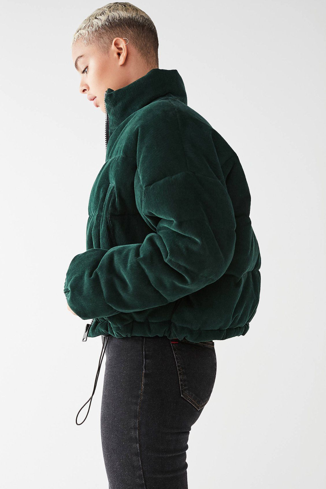 3932c5acc UO Corduroy Puffer Jacket | Urban Outfitters | Bundled Up | Winter ...