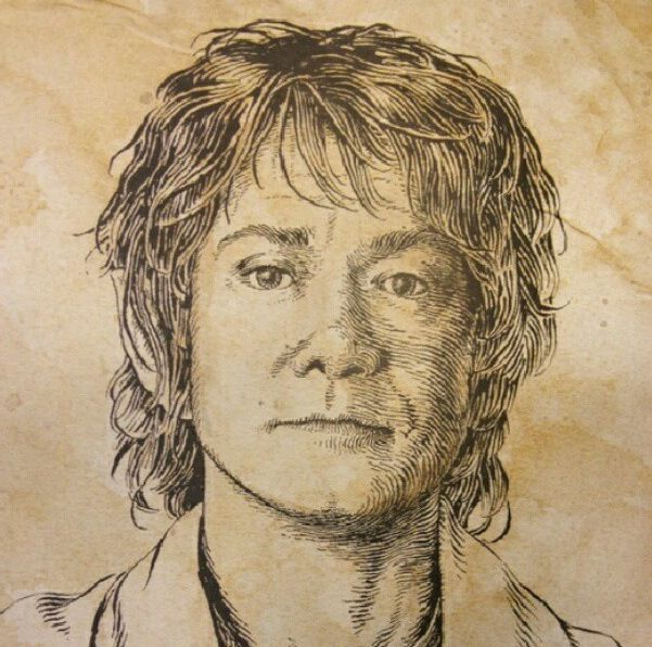 how to draw bilbo baggins step by step