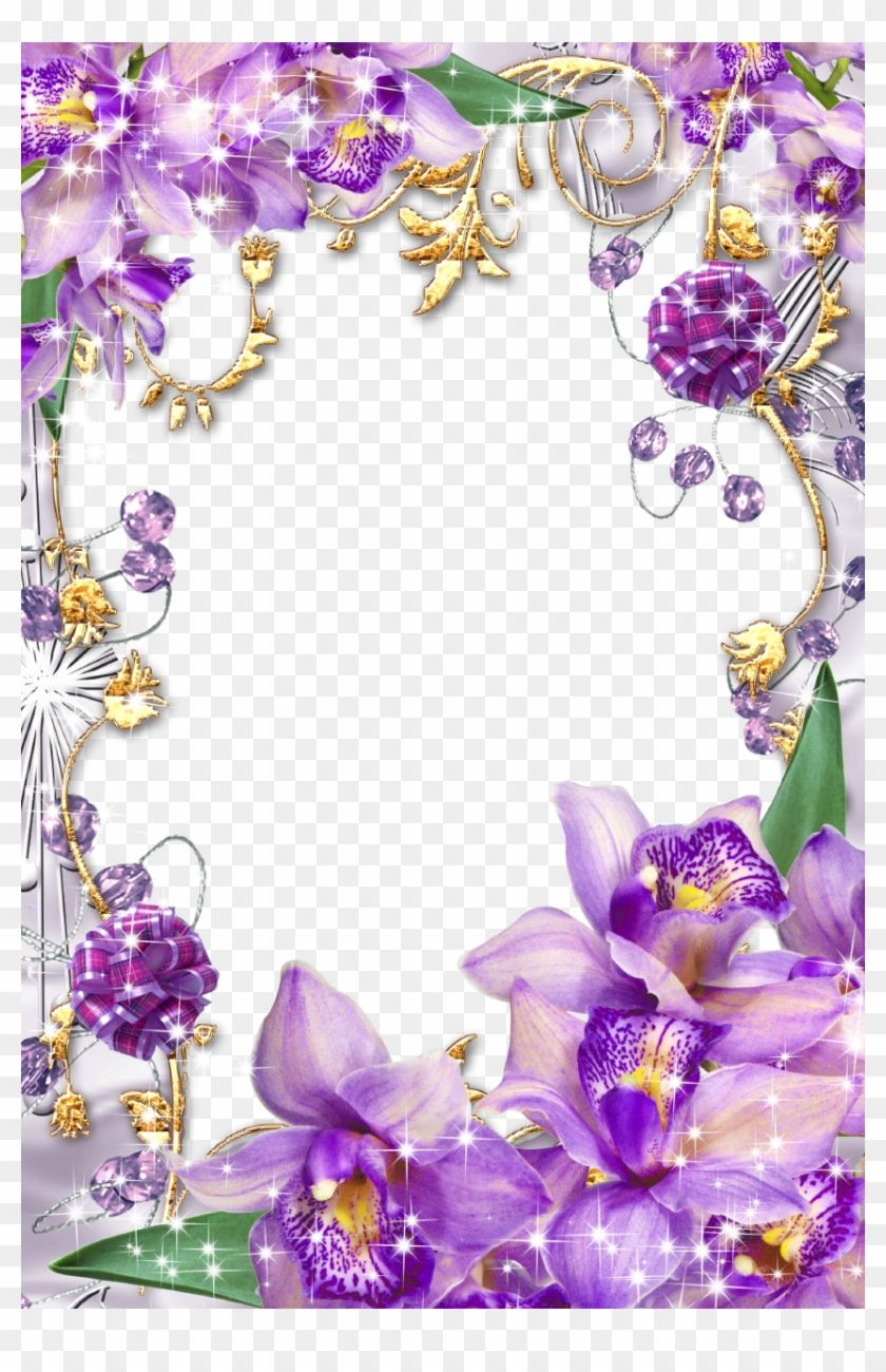 Purple Flower Borders And Frames Purple Flower Frames Png 371837 Flower Frame Flower Frame Png Borders And Frames