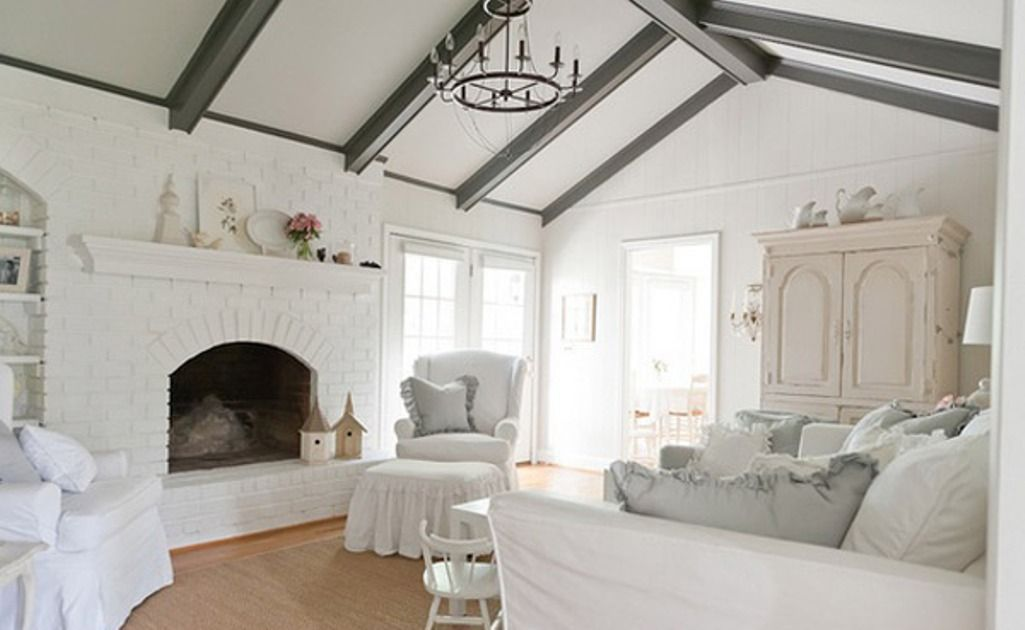 White Shabby Chic Living Room  Shabby Chic And Classic Country Mesmerizing Chic Living Room Design Decoration